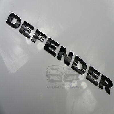 DEFENDER COUNTY 90 110 GLOSS BLACK BONNET BADGE LETTERING LETTERS FIT LAND ROVER