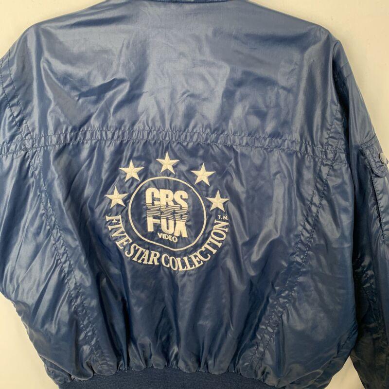 CBS Fox Video 5 STAR 80s VINYL Jacket XL  Vintage Very Rare Great Condition Blue