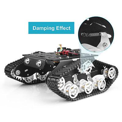 Tracked Robot Smart Car Platform Tank Chassis Dual Motor Crawler Damping Effect