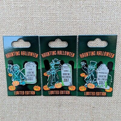 Disney Pins Halloween 2017 (Haunting Halloween Pins 2017 Disney Haunted Mansion Hitchhiking Ghosts LE)