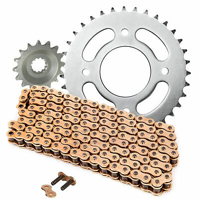 <em>YAMAHA</em> YZF R125 CHAIN AND SPROCKET KIT HEAVY DUTY GOLD 2008   2018  YZ
