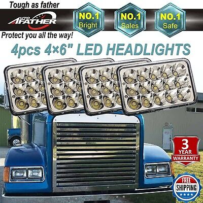 For FREIGHTLINER FLD 120 FLD 112 CREE LED Headlights Sealed Hi/Lo Beam Lamp DRL for sale  USA