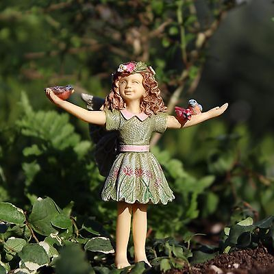 Courtney Fairy with  Birds on pick 0025 Miniature Fairy Garden Dollhouse