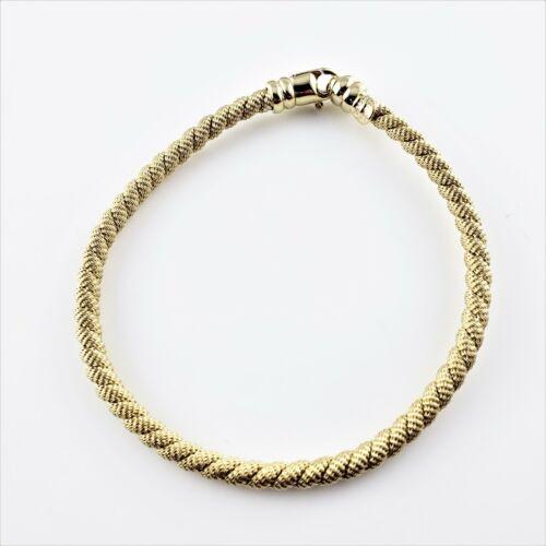 Vintage 14 Karat Yellow Gold Cable Bracelet #8482