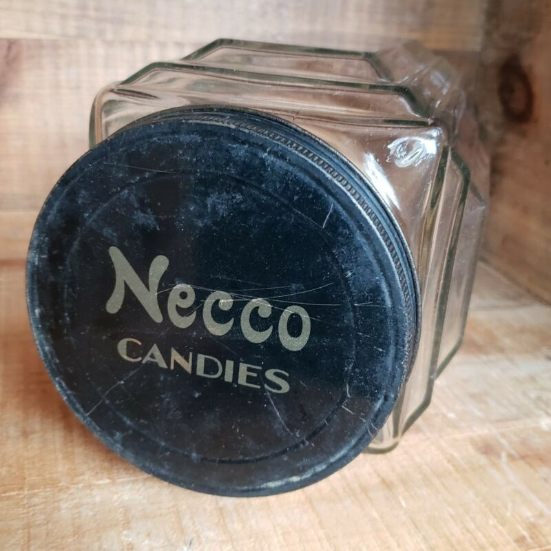 Art Deco Necco Wafers Store Counter Display Candy Jar