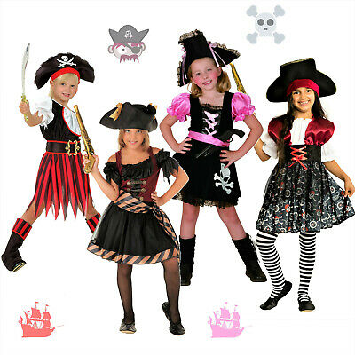 TOP Fasching Kinder Piratenkostüm Faschingskostüm Mädchen Piratin Piraten - Kinder China Kostüm