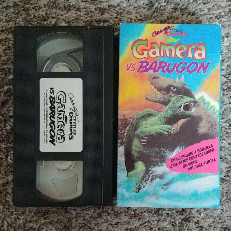 Gamera Vs. Barugon (VHS, 1987) RARE kaiju horror 1966 godzilla