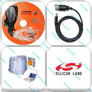 Usb evinrude e-tec etec diagnostic cable set, with usb cable.