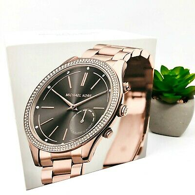 MICHAEL KORS Access Slim Runway Rose Gold-Tone Hybrid Smartwatch MKT4005 $295
