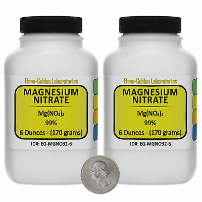 Magnesium Nitrate Mgno32 99 Usp Food Grade Powder 12 Oz In Two Bottles Usa