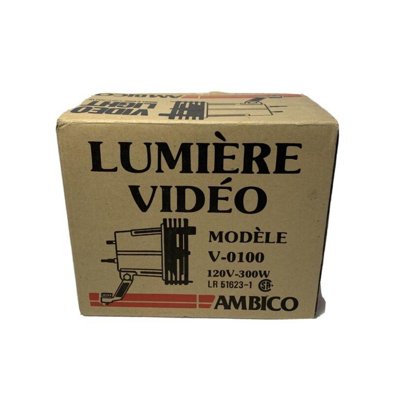 Vintage Ambico Video Light Model V-0100 120V/300W  Spot & Wide focus