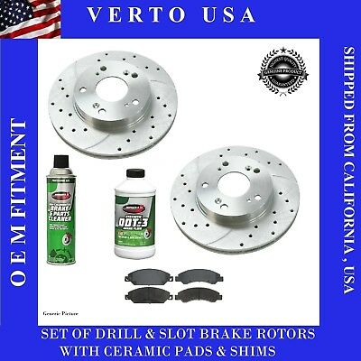 Front Brake Rotors & Centric Pads For Cadillac Escalade, 2007-2008-2009 to 2019