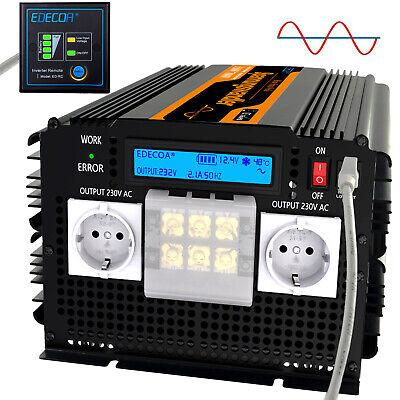 Spannung Strom Wandler (Spannungswandler 3500w 7000w REINER SINUS 12V auf 230V mit großer Stromanschluss)