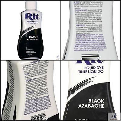 tinte para ropa negra 8oz restauracion de pintura liquida Kit Lavanderia ENVI...