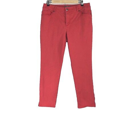 Red Pocket Jean - Chicos SO SLIMMING Skinny Jean Red Wash 1.5 Large Zip Ankle Stretch 5 Pocket