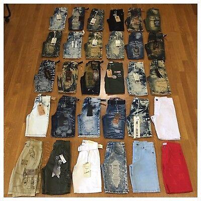 New Boys Size 5 Fashion Denim Shorts Distressed Moto Acid Wash Cargo Jeans Kids