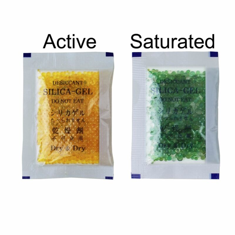 "[500 pk]5 Gram ""Dry & Dry"" Premium Orange Indicating Silica Gel Packets-Reusable"