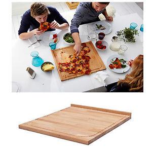 NEW IKEA Large Wooden Wood Timber Chopping Board 46x53cm Cutting w/ Groove Edge
