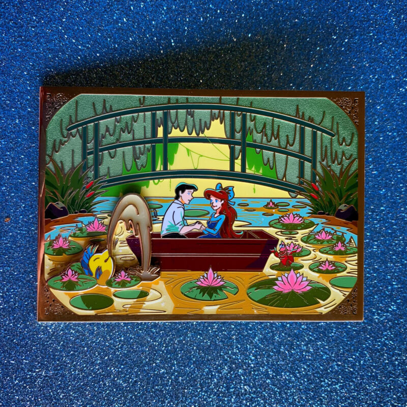 Ariel And Eric The Water Lily Pond LE 65 Fantasy Pin Disney Little Mermaid Monet