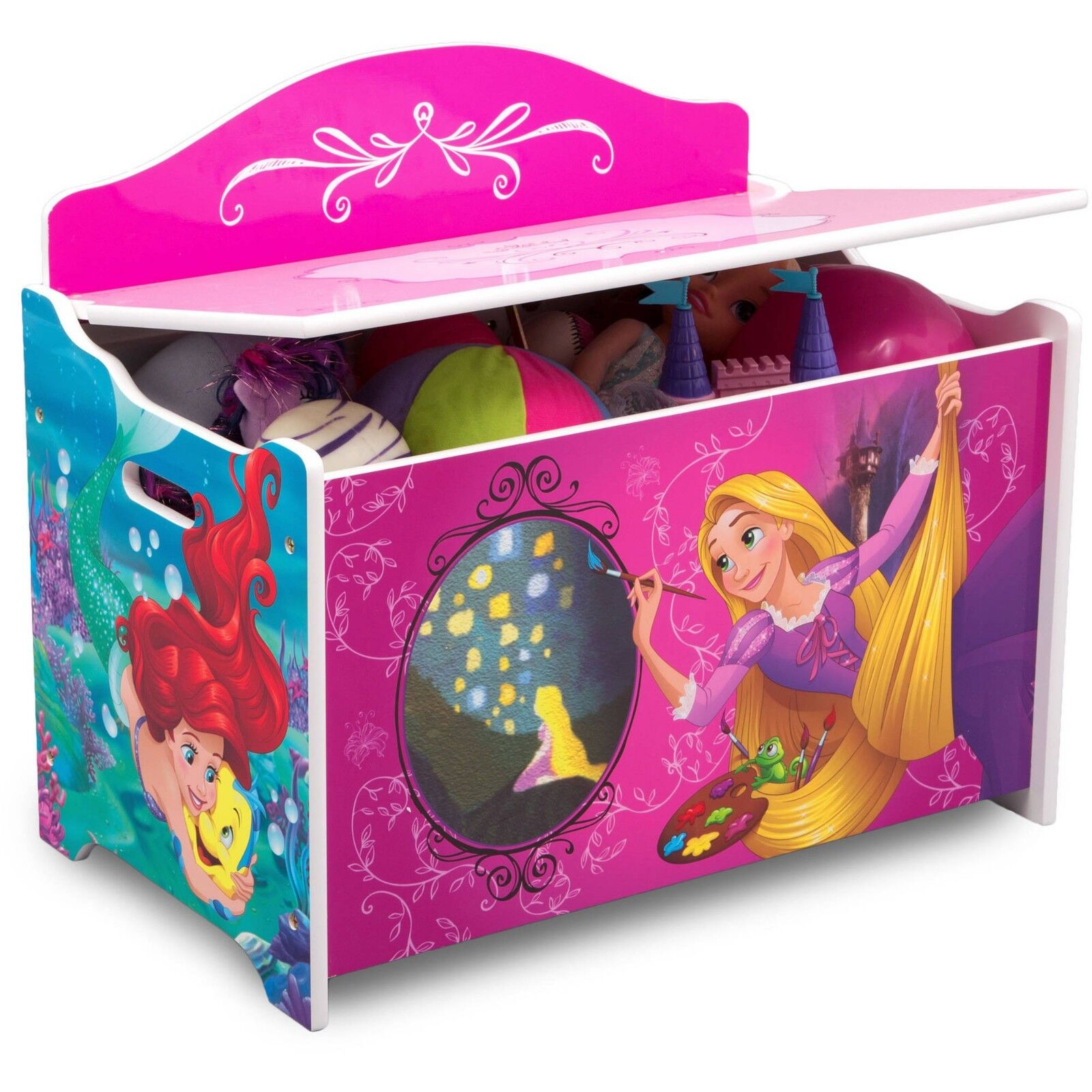 Disney Princess Toy Box Boxes For Little Girls Lid Best Stor