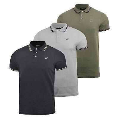 Mens Polo Shirt Kangol Short Sleeve T-Shirt Top Carter
