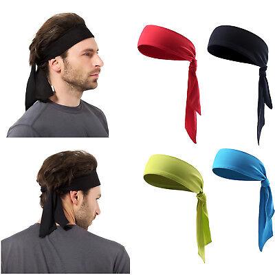 US Men Women Sports Sweat Headband Pirate HairBand Free Bandage Tennis Running (Pirate Headband)