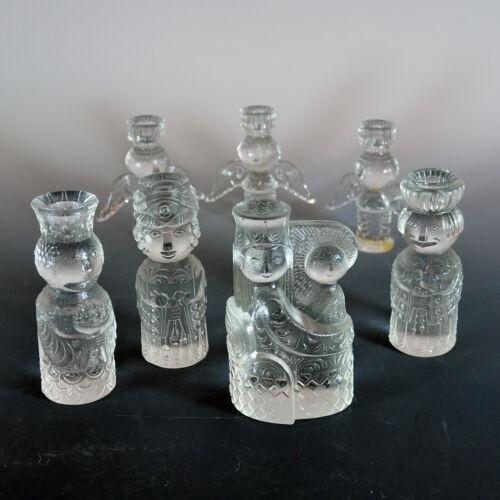 Bjorn Wiinblad Glass Nativity - Seven Pieces - Mint Condition