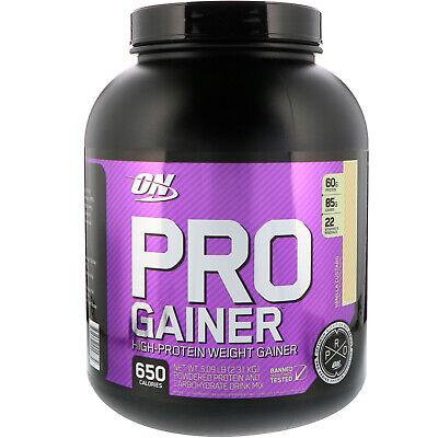 Pro Gainer, High-Protein Weight Gainer, Vanilla Custard, 5.09 lbs (2.31 kg) High Protein Gainer