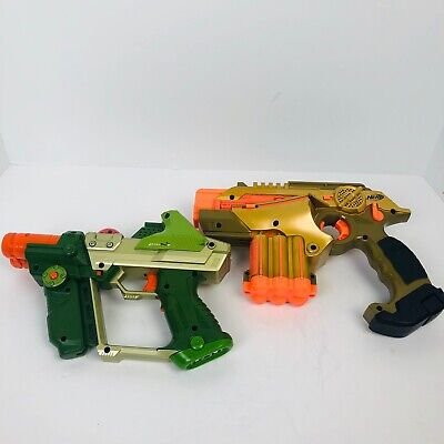 Nerf Phoenix LTX Lazer Tag Guns 2007  Blue Orange Gold tiger 2004 2 guns