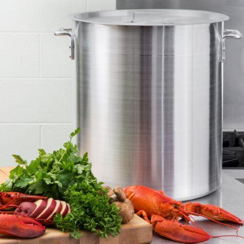 60 Qt. NSF Aluminum Restaurant Kitchen Commercial Stock Pot with Lid Cover