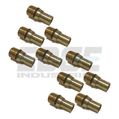 10 Pack 34 Swivel Hose Barb X 34 Male Npt Brass Pipe Fitting Gas Fuel Water
