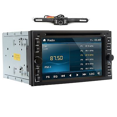 """Camera+Double 2 Din 6.2"""" In Dash Stereo Car DVD MP3 Player Bluetooth Radio iPod on Rummage"""
