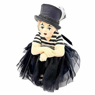 Bethany Lowe Sad Mime Madeline Clown Costume Girl Retro Halloween Figurine Decor