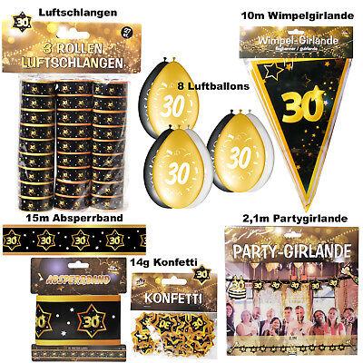 Geburtstag 30 Jahre Dekoration Party Zubehör Gold Jubiläum (30 Geburtstag Dekoration)