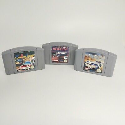 3x Racing Game Bundle Job Lot TopGear Rally N64 Nintendo 64 Cartridges Only PAL