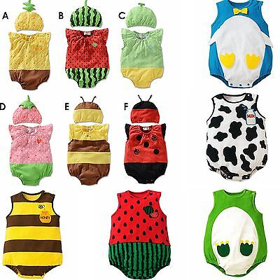 Infant Baby Boy Girl Animal Costume Romper Jumpsuit Bodysuit Clothes Outfit - Animal Costume Baby