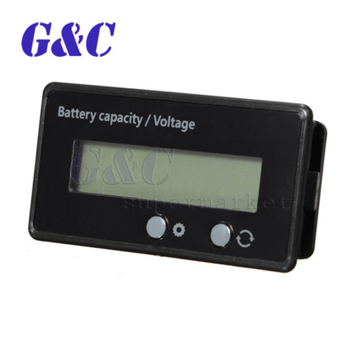 12//24//36//48V Acid Lead Lithium Battery Capacity Indicator 6-63V LCD Voltmeter