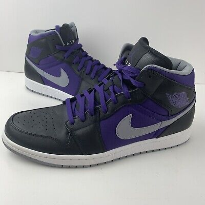 EUC Mens 2012 Nike Air Jordan 1 Phat Shoes SIze 15( 364770-018) Purple And Black