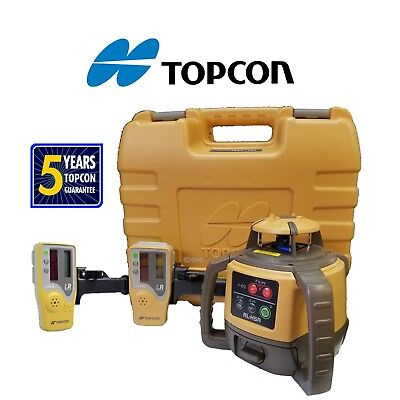 Topcon Model Rl-h5a Db Alkaline Rotating Laser Level W Extra Ls-80l Receiver