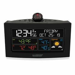 La Crosse Technology C82929-INT WiFi Projection Weather Alarm Clock, Black