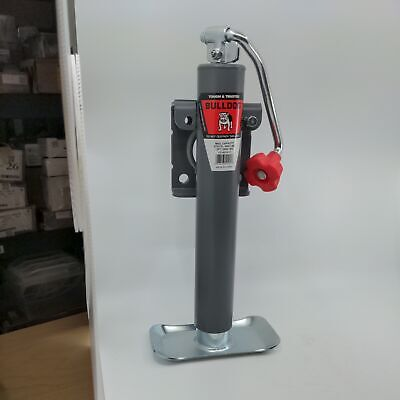 Bulldog 10 In Topwind Travel Weld-on Trailer Jack With Base 2000 Lb Capacity