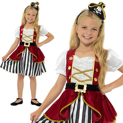 Girl Pirate Outfit (Deluxe Pirate Girl Costume Buccaneer Childrens Girls Fancy Dress)