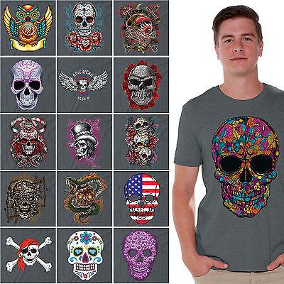 Day of the Dead shirt Halloween Dia De Los Muertos Sugar Skull t-shirt CHARCOAL](Halloween Day Deals)