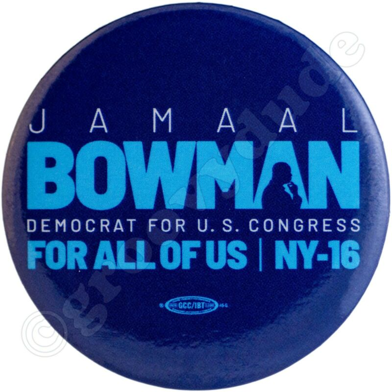 Official 2020 Jamaal Bowman For US House NY-16 Campaign Name Pin Pinback Button