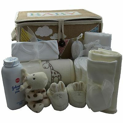 Baby gift basket/hamper unisex neutral hospital/new born essentials baby shower