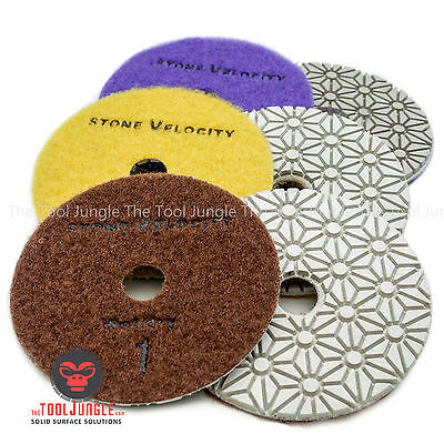 Diamond Polishing Pads 4 Inch Wetdry 3 Step Set Granite Stone Concrete Marble
