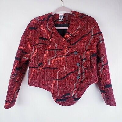 OPENING CEREMONY JACKET Asymmetric Snap Button Career Work Size XS