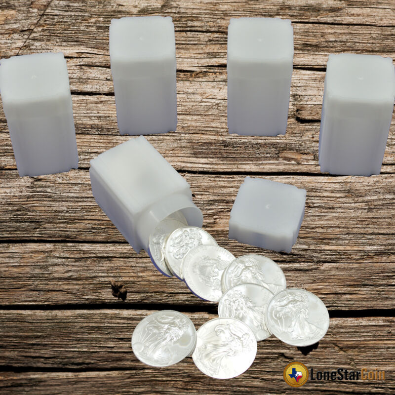 5 CoinSafe AMERICAN SILVER EAGLE Square Coin Tube - Coin Supplies