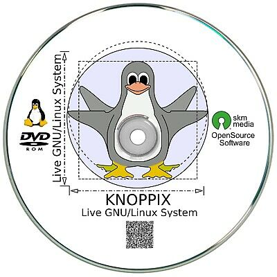 Knoppix 8.2 Linux Live System auf DVD, inkl.Tor Browser, Office Software, Grafik Browser