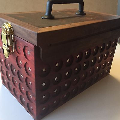 Pathtag Collectors Ammo Box-Tropical Redheart Box and Walnut Burl Cover